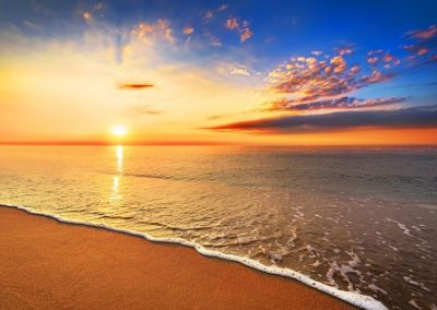 49135908 - beautiful tropical sunrise on the beach.